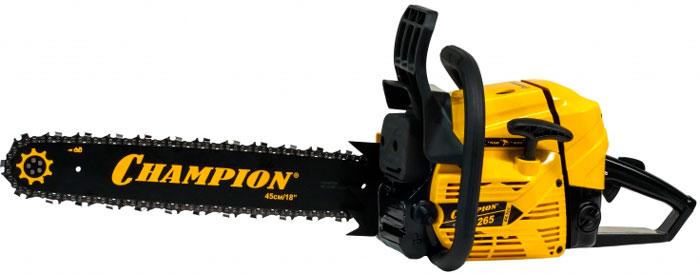 Бензопила Champion 265-18 - модель для работы с древесиной больших диаметров