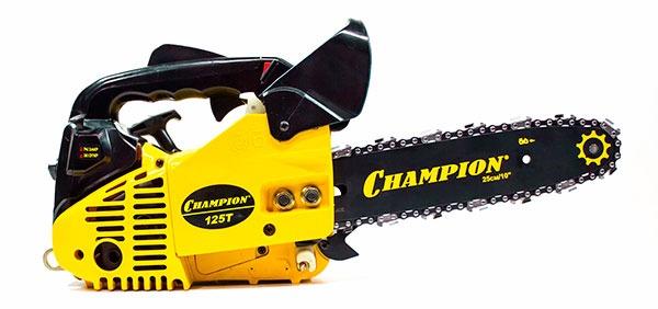Бензопила Champion 125T-10: малогабаритная модель с универсальными свойствами