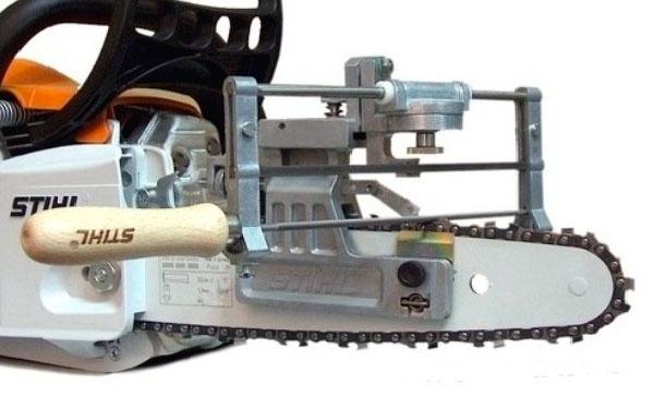 Ручной станок для заточки цепей