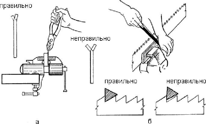 Как наточить ножовку по дереву в домашних условиях - пошаговая инструкция